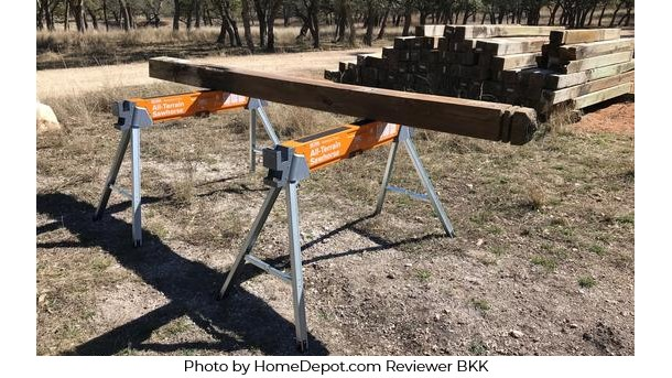 All-Terrain Sawhorse Photo by HomeDepot.com Reviewer BKK
