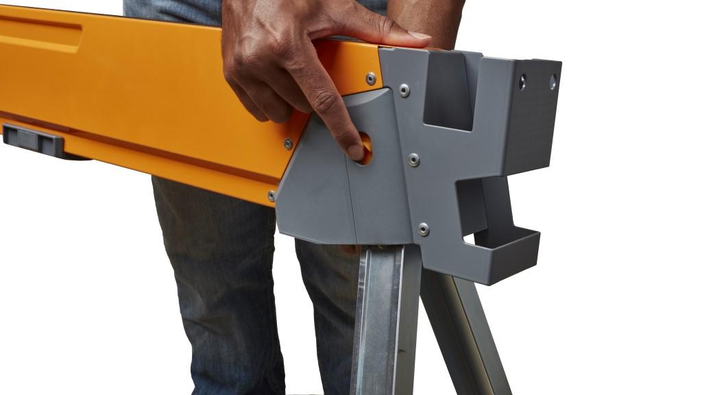 Folding Sawhorse Mechanism Release